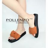 Beli Pollenzo Sandal Selop Bahan Suede Pvc Pita Besar Dengan Kartu Kredit