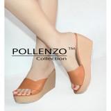Harga Pollenzo Sandal Wedges Wanita 8Cm Paling Murah