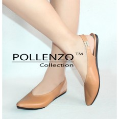 Pollenzo Selop Wanita Flats Shoes Loafers Karet Elastis