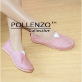 Pollenzo Flat Shoes Sepatu Kanvas R 301 Peach Terbaru