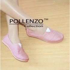 Harga Pollenzo Flat Shoes Sepatu Kanvas R 301 Peach Pollenzo Online