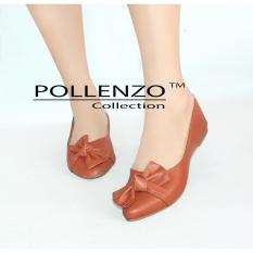 Beli Pollenzo Sepatu Wanita Flat Shoes Detail Pita Pollenzo Murah
