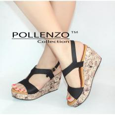 Harga Pollenzo Silvina Wedges Sandal Tali Slingback Branded