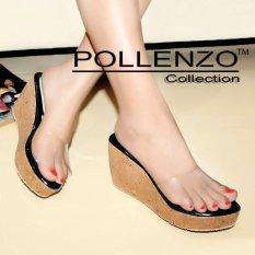 Pollenzo Sandal Wedges Mika Ruselia ~ BLACK