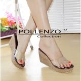 Beli Pollenzo Wedges Mika Ruselia Dm 408 Brown Murah