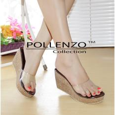 Jual Pollenzo Wedges Mika Ruselia Dm 408 Brown Murah