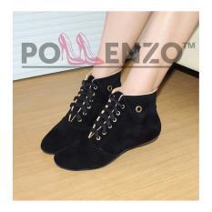 Spesifikasi Pollenzo Women S Fashion Boots Ma 251 Black Baru