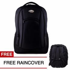 Ulasan Lengkap Polo Campus Black Bomber Laptop Backpack Free Raincover 111