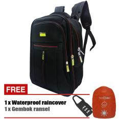 Diskon Polo Cavallo Tas Ransel 03522 18 Polyester Expandable Original Hitam Branded