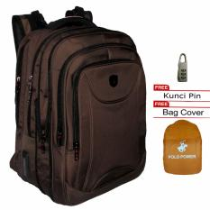 Dapatkan Segera Polo Power Backpack Expandable Import Highest Spec Polo Backpack Original Pp185002 18 Coklat Raincover
