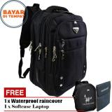 Beli Polo Milano Tas Ransel Tas Laptop Tas Punggung Tas Kerja Dan Kuliah 88092 18 Highest Spec Polo Backpack Import Original Black Free Softcase Laptop Free Raincover Online Murah