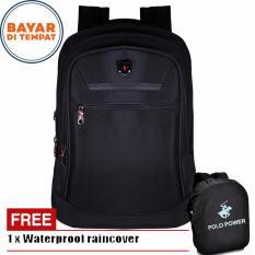 Jual Polo Power Tas Ransel Pria 18 Inchi Expandable 185003 18 Highest Spec Polo Backpack Import Original Black Raincover Lengkap