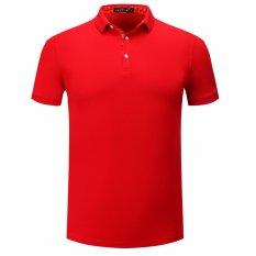 Polo Shirt untuk Man Cotton Merah On Sale T-shirt Lengan Pendek-Intl