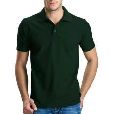 Polo Shirt Hijau Army Distro - Kaos Baju Kerah Pria - Hot Items