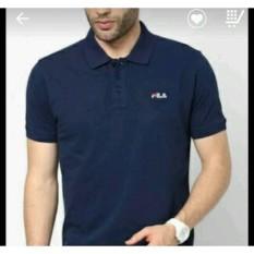 Harga Polo Shirt Kaos Kerah Fila One Tshirt Terbaik