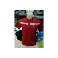 Polo Shirt Kaos Kerah Polo FILA Garisterbaru