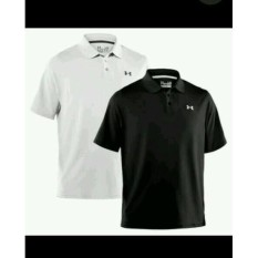 Polo Shirt Kaos KERAH UNDER AMOUR BLACK Distro Terbaru