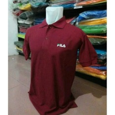 Polo Shirt Kaos Pria FILA MAROON
