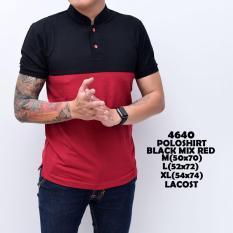 Polo Shirt  Kaos Pria Shanghai Black Mix Red