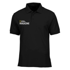 Polo Shirt National Geographic Magazine - Hitam