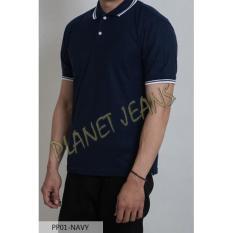 Polo Shirt Polos Warna Navy / Biru Dongker Baju Kerah  #Pp01-Navy - Zaqfuc