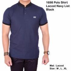 Beli Polo Shirt Pria Navy Lengan Pendek Kerah Sanghai Baju Polos Kaos Kredit