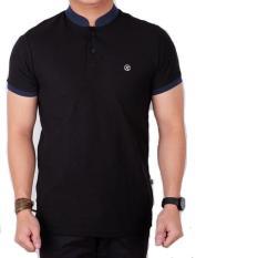 Polo Shirt Pria Polos Hitam Lengan Pendek / Baju Kaos Kerah Koko Slim - Wjjukj