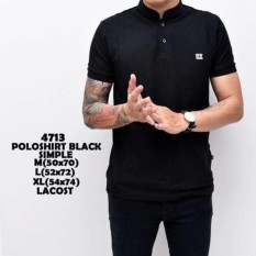 Polo Shirt Pria Shanghai Black / Kaos Cowok / Polo Berkerah Murah