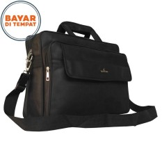 Polo Star Tas Kantor Laptop 2in1 Selempang Tenteng Multi Fungsi PL 2136 17 - Original Black