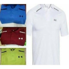 Polo Tshirt Under Armour-T Shirt-Kaos Polo Shirt Under Armour Putih