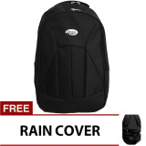 Iklan Poloclub Basic Black Backpack With Raincover