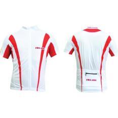 Harga Polygon Jersey Helios Short Sleeves Putih Merah Yang Murah Dan Bagus