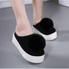 POMMIE Black Platform Shoes