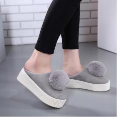 POMMIE Grey Platform Shoes