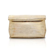 Pommkorea Tas Wanita / Clutch Bag / Roll Clutch / Woman Bag / Metalic Gold