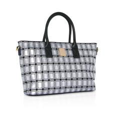 Pommkorea Tas Wanita / Defect Bag Collection / T Quatre / Shoulder Bag / Shiny Silver