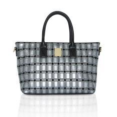 Pommkorea Tas Wanita / Tote Bag / T Quatre / Woman Bag / Shiny Silver