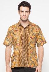 Spesifikasi Pomona Batik Kemeja Lengan Pendek Coklat Muda Paling Bagus