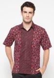 Harga Pomona Batik Kemeja Lengan Pendek Merah Baru Murah