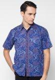 Harga Pomona Batik Kemeja Lengan Pendek Motif Biru Yang Murah