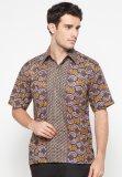 Promo Pomona Batik Kemeja Lengan Pendek Motif Ungu