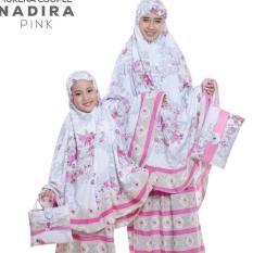 PondokHijabers Couple Mukena Ibu & Anak Nadira Warna Pink