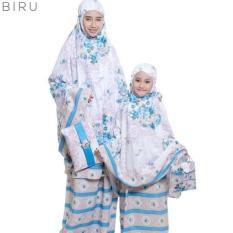 PondokHijabers Couple Mukena Ibu & Anak Nadira Warna Tosca Plus Tas Cantik