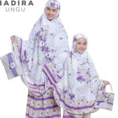 PondokHijabers Couple Mukena Ibu & Anak Nadira Warna Ungu Plus Tas Cantik