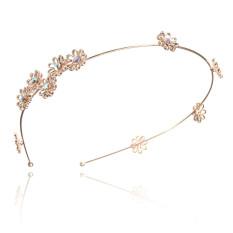 Beli Pop Women Flower Rhinestone Head Chain Jewelry Headband Head Piece Hair Band Chrysanthemum Intl Oem Dengan Harga Terjangkau