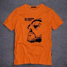 Populer Prancis Klasik Movie Printed Pendek Leher O Katun T-shirt Lengan Pada Pria (Oranye)-Intl
