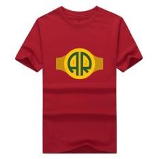 Populer Pria Bay QB Aaron Rodgers Kaus Katun Streewear Perhatian Pria Lengan Pendek Kaus Kaus Atasan Merah-Internasional