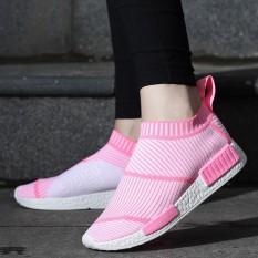 Beli Popular Sneakers Women Slip On Footwear Lightweight Girls Walking Shoes Nano Woven Air Breathable Fashion Sneakers Intl Online Tiongkok