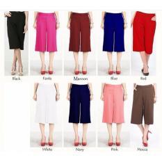 Popuri Fashion Celana Kulot Unila Wanita - Pants Wedges Scuba - Maroon
