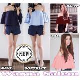 Spesifikasi Blouse Sabrina Banvelos Baju Atasan Wanita Fashion Twiscone Salem Yg Baik
